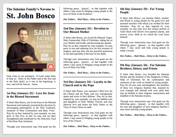Novena to saint john bosco 9 days of prayer to don bosco novena prayer to saint john bosco don bosco thecheapjerseys Images