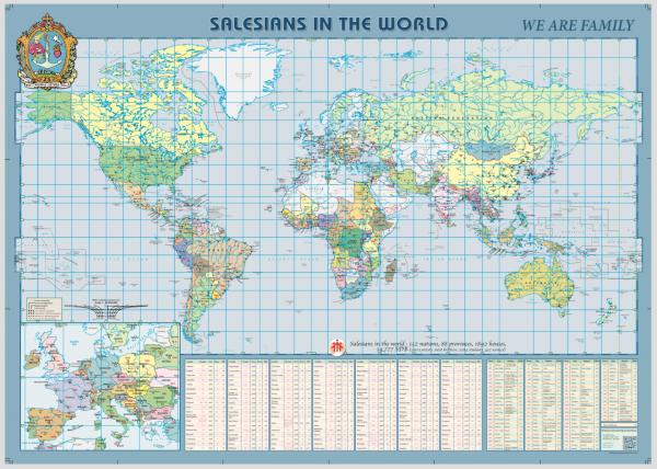 Salesians in the World Map 2017