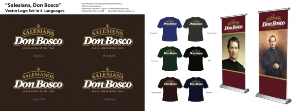 Classic Text SDB Logo Salesians Don Bosco T-shirt