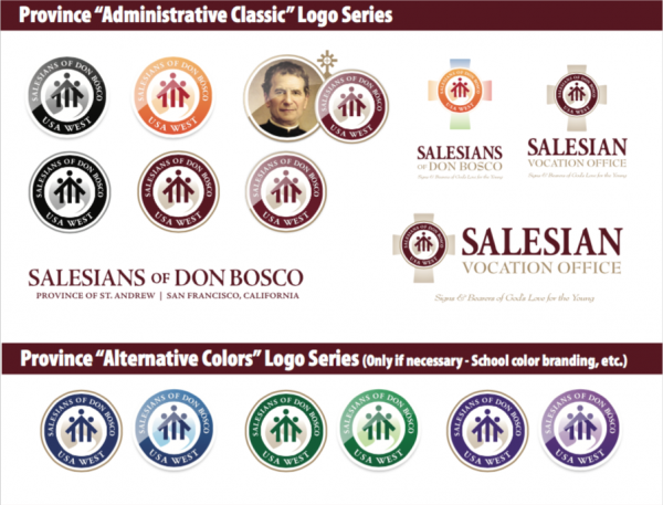 Salesians of Don Bosco - USA West Logo set